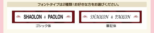 フォントタイプは2種類!お好きな方をお選びください!